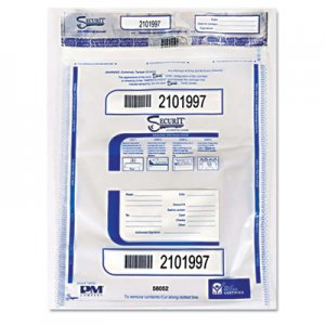 SecurIT Triple Protection Tamper-Evident Deposit Bags, 20 x 28, Clear, 100/Carton ICX94190079 58052
