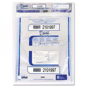 SecurIT Triple Protection Tamper-Evident Deposit Bags, 19 x 24, Clear, 50/Pack ICX94190078 58051