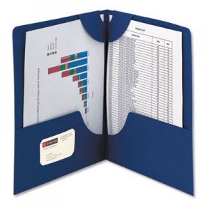 Smead Lockit Two-Pocket Folder, Textured Paper, 11 x 8 1/2, DK Blue, 25/BX SMD87982 87982