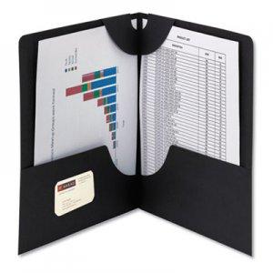 Smead Lockit Two-Pocket Folder, Textured Paper, 11 x 8 1/2, Black, 25/Box SMD87981 87981