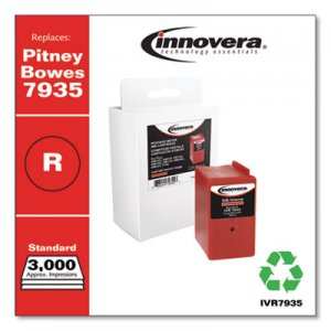 Innovera Compatible Red Postage Meter Ink, Replacement for Pitney Bowes 793-5 (7935), 3,000 Page-Yield IVR7935