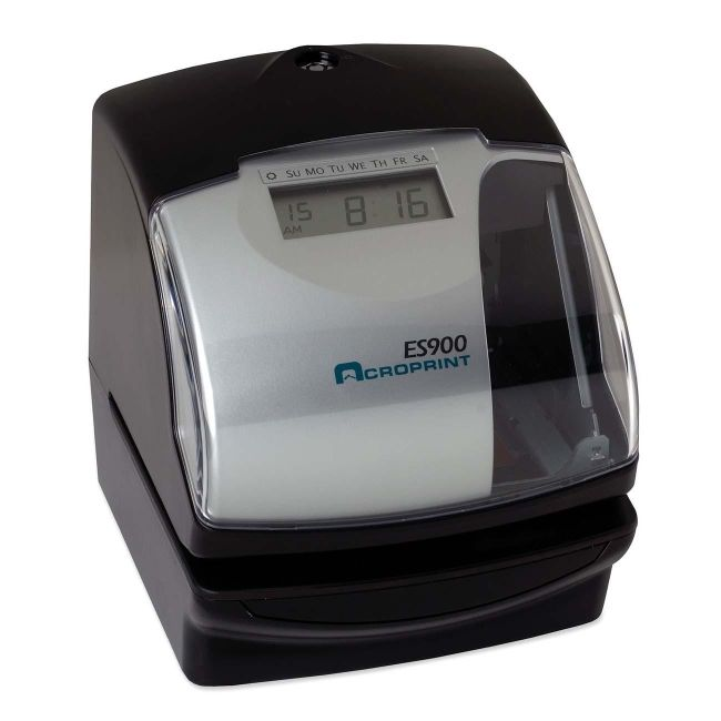Acroprint Time Recorder Company Multi-Function Side Printing Time Recorder 010209000 ACP010209000
