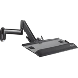 Chief Height Adjustable Dual Arm with Keyboard Tray KWK110B KWK110
