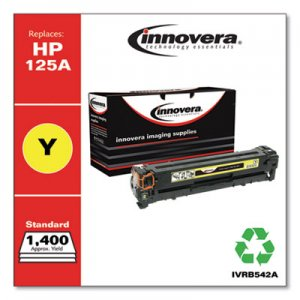 Innovera Remanufactured CB542A (125A) Toner, 1400 Page-Yield, Yellow IVRB542A