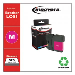 Innovera Remanufactured Magenta Ink, Replacement for Brother LC61M, 750 Page-Yield IVRLC61M