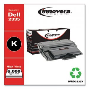 Innovera Remanufactured Black High-Yield Toner, Replacement for Dell 2335 (330-2209), 6,000 Page-Yield IVRD2335X