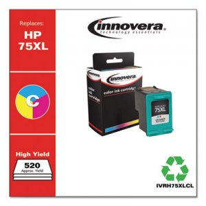 Innovera Remanufactured CB338WN (75XL) High-Yield Ink, 520 Page-Yield, Tri-Color IVRH75XLCL