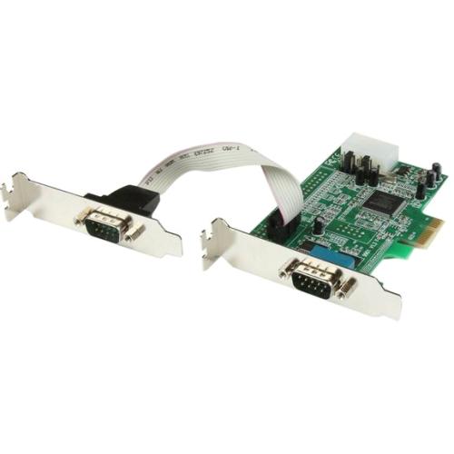 StarTech.com 2 Port Low Profile PCI Express Serial Card - 16550 PEX2S553LP