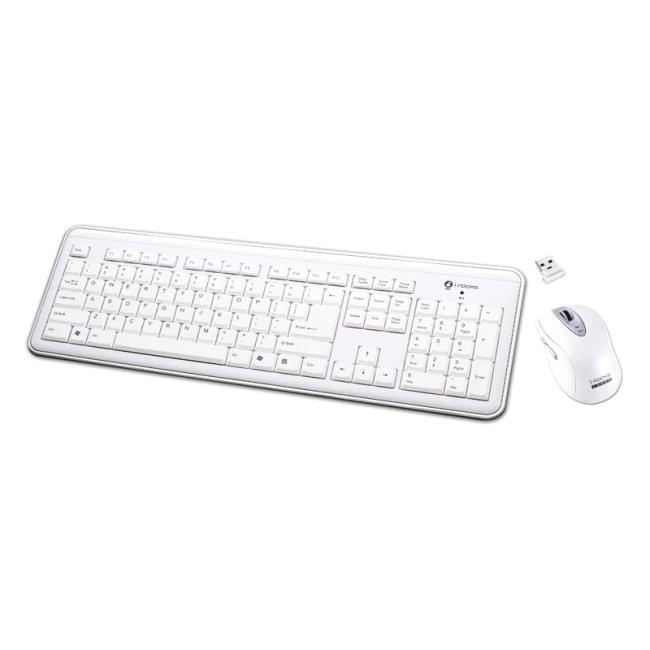 I-Rocks Keyboard and Mouse RF-6577L-WH RF-6577L