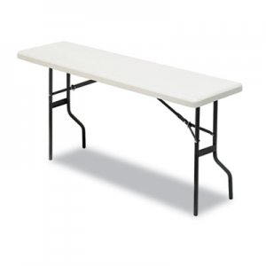 Iceberg IndestrucTables Too 1200 Series Folding Table, 60w x 18d x 29h, Platinum ICE65353 65353