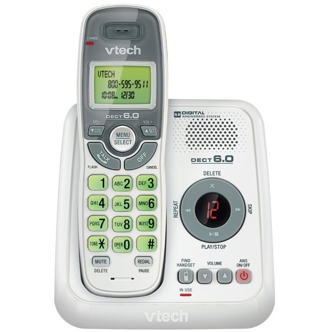 VTech Cordless Phone with Answering Machine CS6124
