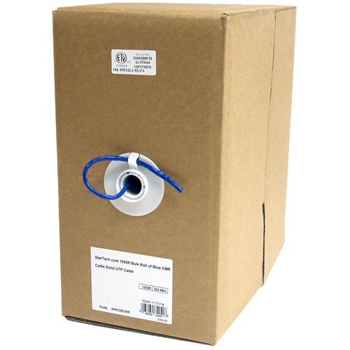 StarTech.com 1000 ft Bulk Roll of Blue CMR Cat5e Solid UTP Cable WIRC5ECMR