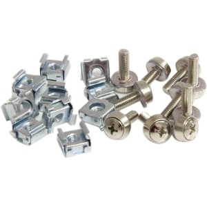 StarTech.com 100 Pkg M5 Mounting Screws and Cage Nuts for Server Rack Cabinet CABSCREWM52