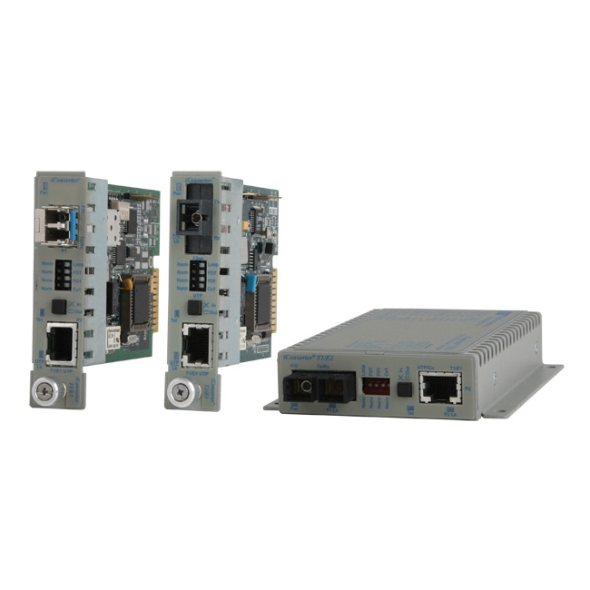 Omnitron iConverter T1/E1 Media Converter 8703-2-D