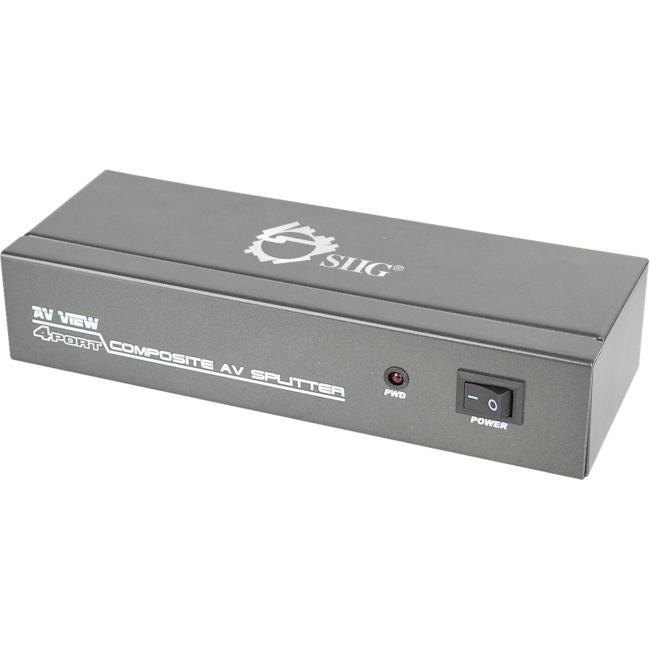 SIIG 1x4 Composite Video & Audio Splitter CE-CM0311-S1