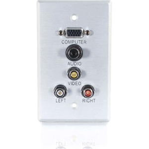 C2G 5 Socket Audio/Video Faceplate 40490