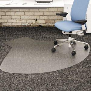 deflecto SuperMat Frequent Use Chair Mat, Medium Pile Carpet, 60 x 66, Workstation, Clear DEFCM14003K CM14003K