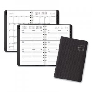 At-A-Glance Contemporary Weekly/Monthly Planner, Block, 4 7/8 x 8, Graphite Cover, 2020 AAG70100X45 70-100X-45