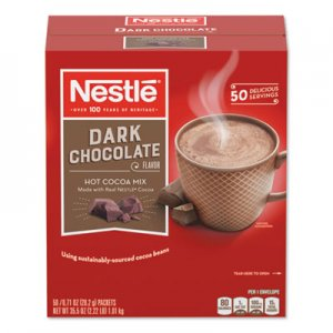Nestle Hot Cocoa Mix, Dark Chocolate, 0.71 oz, 50/Box NES70060 70060