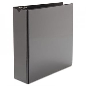 "Samsill Speedy Spine Round Ring View Binder, 11 x 8-1/2, 3"" Cap, Black SAM18180C 18180C"
