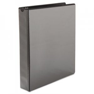 "Samsill Speedy Spine Round Ring View Binder, 11 x 8-1/2, 1-1/2"" Cap, Black SAM18150C 18150C"