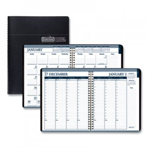 House of Doolittle Recycled Wirebound Weekly/Monthly Planner, 11 x 8 1/2, Black Leatherette, 2020 HOD28302 283-02