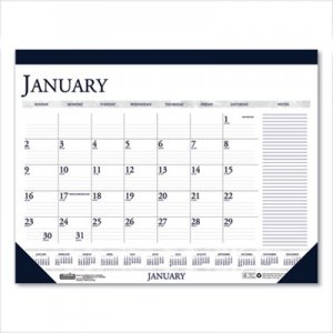 House of Doolittle Recycled Two-Color Monthly Desk Calendar with Large Notes Section, 18.5 x13, 2021 HOD1646 1646