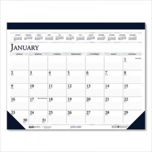 House of Doolittle Recycled Two-Color Monthly Desk Pad Calendar, 18 1/2 x 13, 2019 HOD1506 1506