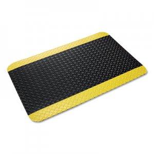 Crown Industrial Deck Plate Anti-Fatigue Mat, Vinyl, 36 x 60, Black/Yellow Border CWNCD0035YB CD 0035YB