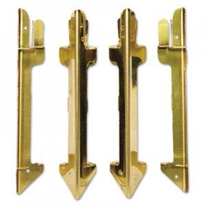 Carver Hardwood Stackable Desk Tray, Four-Posts, Brass CVR07256 CW07256