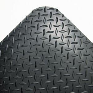 Crown Industrial Deck Plate Anti-Fatigue Mat, Vinyl, 36 x 144, Black CWNCD0312DB CD 0312DB