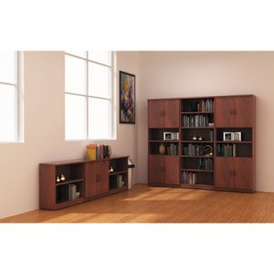 Alera Valencia Series Bookcase, Six-Shelf, 31 3/4w x 14d x 80 3/8h, Med Cherry ALEVA638232MC