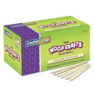 "Creativity Street Natural Wood Craft Sticks, 4.5"" x 0.38"", Wood, Natural, 1,000/Box CKC377501 3775-01"