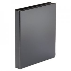 "Genpak Economy Round Ring View Binder, 3 Rings, 1"" Capacity, 11 x 8.5, Black, 12/Carton UNV20961CT"