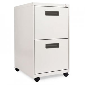 Alera Two-Drawer Metal Pedestal File, 14.96w x 19.29d x 27.75h, Light Gray ALEPAFFLG