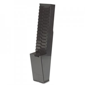 Acroprint 25-Pocket Expanding Time Card Rack, Plastic, Black ACP810118000 81-0118-000