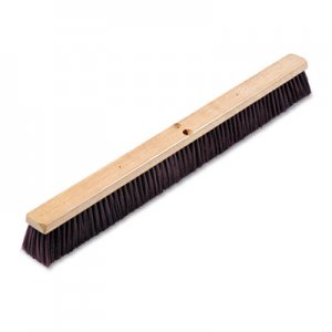 "Boardwalk Floor Brush Head, 3 1/4"" Maroon Stiff Polypropylene, 36"" BWK20336"