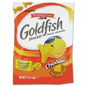 Pepperidge Farm Goldfish Crackers, Cheddar, Single-Serve Snack, 1.5oz Bag, 72/Carton PPF13539 CAM13539