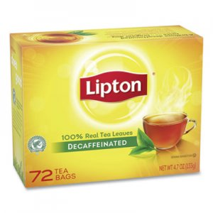 Lipton Tea Bags, Decaffeinated, 72/Box LIP290 TJL00290