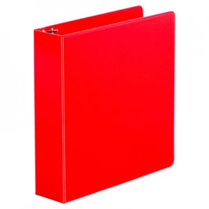 "Genpak Economy Non-View Round Ring Binder, 3 Rings, 2"" Capacity, 11 x 8.5, Red UNV34403"