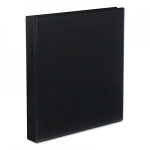 "Genpak Slant-Ring Economy View Binder, 1"" Capacity, Black UNV20741"