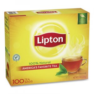 Lipton Tea Bags, Regular, 100/Box LIP291 TJL00291
