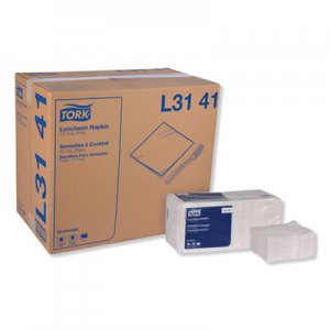 Tork Universal Luncheon Napkins, 1-Ply, 13x11 1/2, 1/4 Fold, Poly-Pack,White,6000/Ctn TRKL3141 L3141