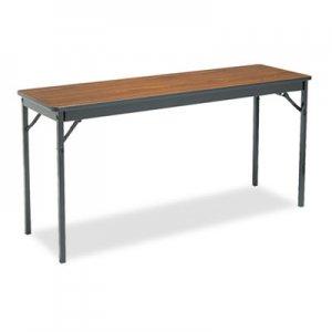 Barricks Special Size Folding Table, Rectangular, 60w x 18d x 30h, Walnut/Black BRKCL1860WA CL1860-WA