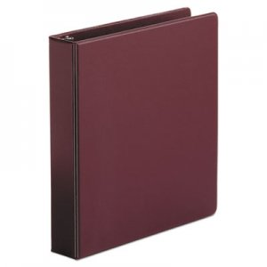 "Genpak Economy Non-View Round Ring Binder, 3 Rings, 1.5"" Capacity, 11 x 8.5, Burgundy UNV33406"