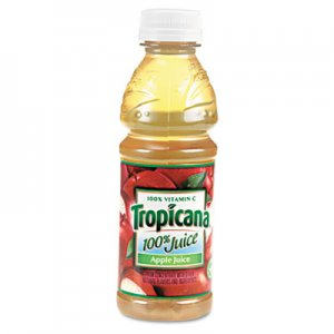 Tropicana 100% Juice, Apple, 10oz Bottle, 24/Carton QKR57178 30110