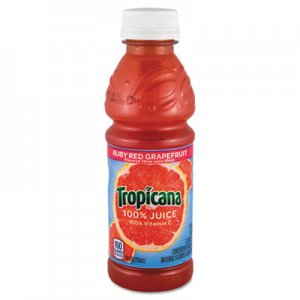 Tropicana 100% Juice, Ruby Red Grapefruit, 10oz Bottle, 24/Carton QKR57161 30109