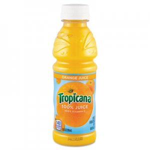 Tropicana 100% Juice, Orange, 10oz Bottle, 24/Carton QKR55154 30107