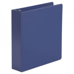 "Genpak Economy Non-View Round Ring Binder, 3 Rings, 2"" Capacity, 11 x 8.5, Royal Blue UNV34402"