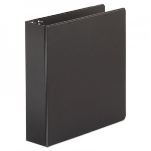 "Genpak Economy Non-View Round Ring Binder, 3 Rings, 2"" Capacity, 11 x 8.5, Black UNV34401"